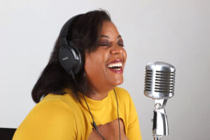 "Yovy Daniels left her mainstream Spanish-language media job to host two independent podcasts, ""The Yovy D Show"" and ""Chombita Chronicles."" PHOTO COURTESY OF YOVY DANIELS"