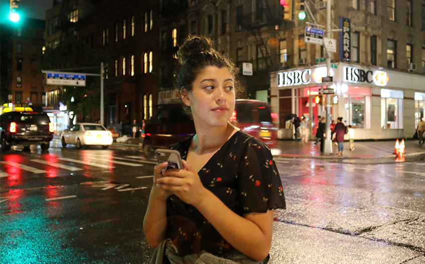 Freelance journalist Izzie Ramirez, a recent NYU grad, reports in New York City. Ramirez will specialize in science reporting as a graduate student at Columbia University in the fall. PHOTO BY JAE THOMAS