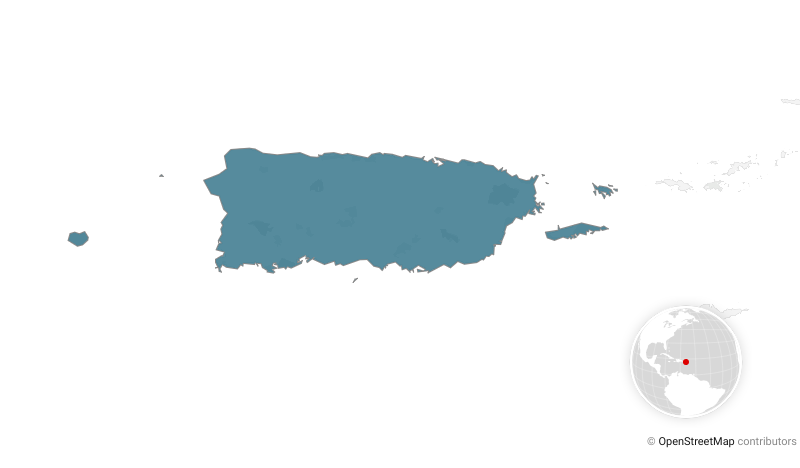 Map with Puerto Rico highlighted
